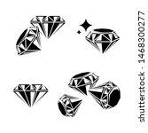 diamond collection set.... | Shutterstock .eps vector #1468300277