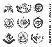 diamond labels and elements set.... | Shutterstock .eps vector #1468302581