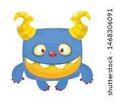Stock vector funny bigfoot or yeti character design vector illustration 1468306091