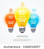 business infographic realistic... | Shutterstock . vector #1468310057