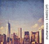 grungy  textured new york...   Shutterstock . vector #146831195