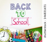 school background | Shutterstock .eps vector #146831651