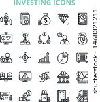 investing iconset with 25... | Shutterstock .eps vector #1468321211
