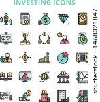investing iconset with 25 item... | Shutterstock .eps vector #1468321847