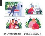 set of medical insurance   mrt  ... | Shutterstock .eps vector #1468326074