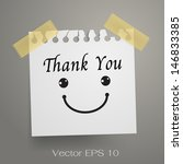 thank you and smiley symbol on... | Shutterstock .eps vector #146833385