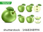 green apple fruit ripe... | Shutterstock .eps vector #1468348994