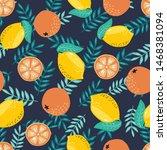 hand drawn summer tropical... | Shutterstock .eps vector #1468381094