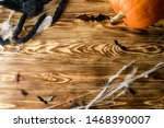 Halloween Wooden Background...