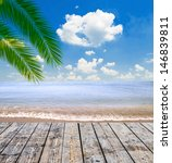 tropical sea and beach with... | Shutterstock . vector #146839811
