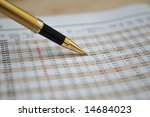 pen showing figures on... | Shutterstock . vector #14684023