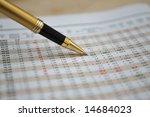 pen showing figures on... | Shutterstock . vector #14684023