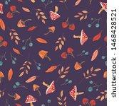 autumn theme seamless pattern...   Shutterstock .eps vector #1468428521