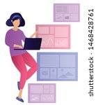 illustration of people working...   Shutterstock .eps vector #1468428761