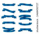 blue ribbons set. vector ribbon ... | Shutterstock .eps vector #1468450727