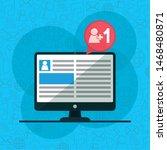 commputer follower website...   Shutterstock .eps vector #1468480871