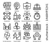 human resources line icon pack ... | Shutterstock .eps vector #1468495241