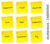 list of positive sentiments... | Shutterstock .eps vector #146850545