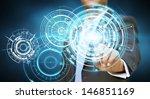 businessman touching tactile... | Shutterstock . vector #146851169