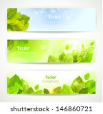 set of vector banners with... | Shutterstock .eps vector #146860721