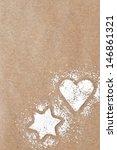 Star And Heart Powder Sugar