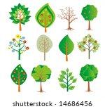 set of trees   Shutterstock . vector #14686456