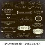calligraphic design elements... | Shutterstock .eps vector #146865764