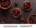 Chocolate Tart With Cherry