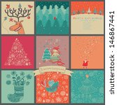 bright christmas vector set.... | Shutterstock .eps vector #146867441