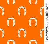 horseshoe pattern orange for...