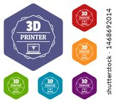 modeling 3d printing icons... | Shutterstock . vector #1468692014