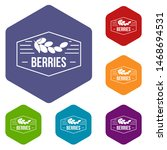 berries icons colorful... | Shutterstock . vector #1468694531