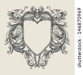 vector vintage border frame... | Shutterstock .eps vector #146870969