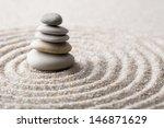 japanese zen garden meditation... | Shutterstock . vector #146871629