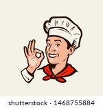 smiling chef gesture of... | Shutterstock .eps vector #1468755884