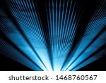 Stock photo blue laser show nightlife club stage and shining sparkling rays luxury entertainment in nightclub 1468760567
