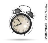 black ringing alarm clock icon... | Shutterstock .eps vector #1468768367