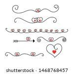 set vector of heart ornaments.... | Shutterstock .eps vector #1468768457