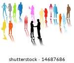 illustration of people...   Shutterstock .eps vector #14687686