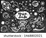 hand drawn space elements... | Shutterstock .eps vector #1468802021