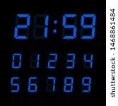 vector digital clock number set....