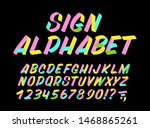 hand drawn colorful typeface on ... | Shutterstock .eps vector #1468865261