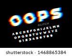 glitch style font design ... | Shutterstock .eps vector #1468865384