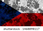 czech republic waving flag... | Shutterstock . vector #1468898117