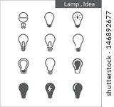 light bulbs  idea | Shutterstock .eps vector #146892677