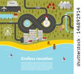 endless vacation. vector... | Shutterstock .eps vector #146892914