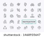 navigation outline icons.... | Shutterstock .eps vector #1468935647