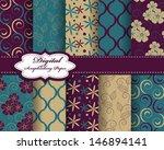 set of vector abstract flower... | Shutterstock .eps vector #146894141