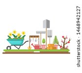gardening equipments.tools for...   Shutterstock .eps vector #1468942127