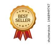 best seller stamp  seal banner... | Shutterstock .eps vector #1468949747